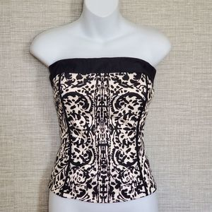 White House Black Market 8 M corset tube top wired